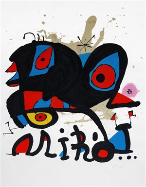 affiche pour l'exposition 'miró' louisiana, humlebaek [denmark] (poster for the exhibition 'miró' louisiana, humlebaek [denmark]) by joan miró